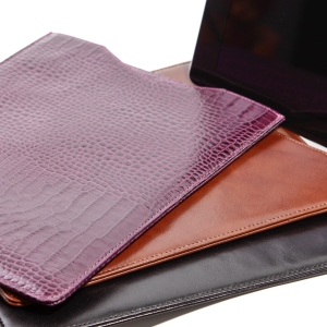Leather Ipad sleeves for a commercial client