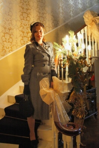 A nostalgic take on fashion at Cransley Hall, during te My Little Vintage Fair on Sunday last